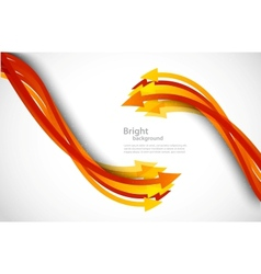 Background with orange arrows vector image