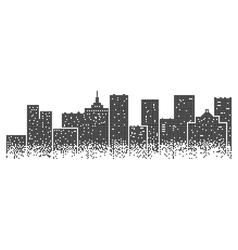 Big modern city vector image