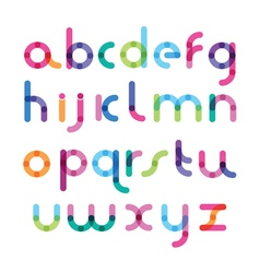 Bright font with the mixed color vector