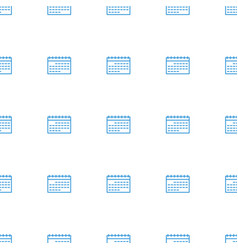 calendar icon pattern seamless white background vector image