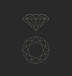 Diamond line drawing vector