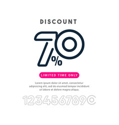 Discount up to 70 off limited time only template vector