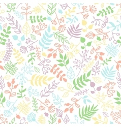 doodle rustic floral pattern vector image