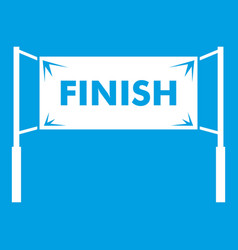 finish line gates icon white vector image vector image