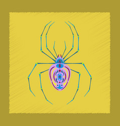 flat shading style icon halloween spider vector image