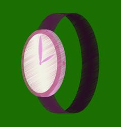 flat shading style icon wrist watch vector image