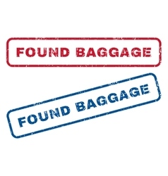 Found baggage rubber stamps vector