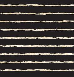 gold foil horizontal lines on black pattern vector image