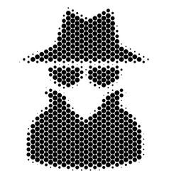 Halftone dot spy icon vector