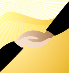 Handshaking business logo vector image