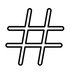 Hashtag black color icon vector
