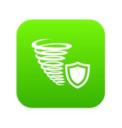 hurricane protection icon green vector image
