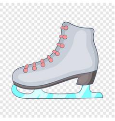 Ice skate boot icon cartoon style vector