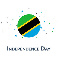 independence day of tanzania patriotic banner vector image