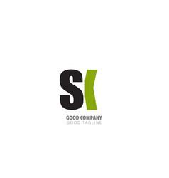 initial letter design logo vector image