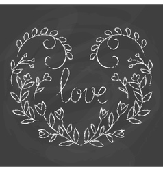 Love card Hand drawn lettering design vector image