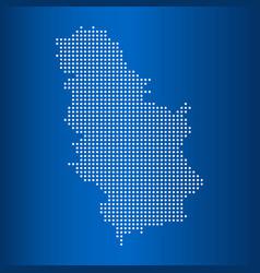 Map serbia with circle dot vector