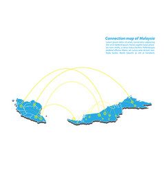 Modern of malaysia map connections network design vector
