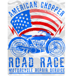 Motorcycle poster tee graphic design vector