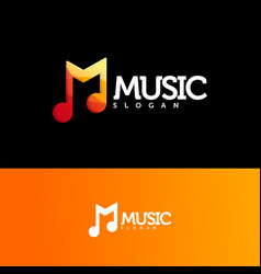 music logo design ready to use vector image