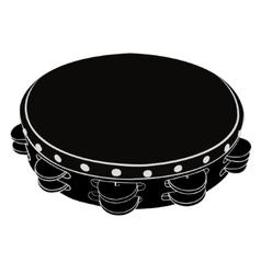 Musical instrument tambourine vector