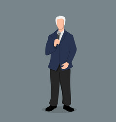 Politician in cartoon style business speaker vector