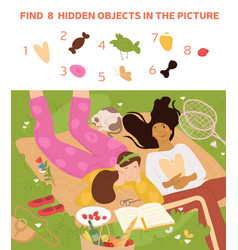 puzzle with hidden items vector image
