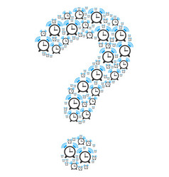 Question mosaic of buzzer icons vector