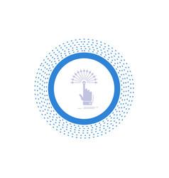 Reach touch destination digital analytic glyph vector