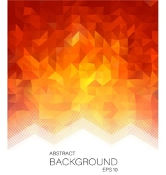 Red low poly style letterhead graphic design vector image
