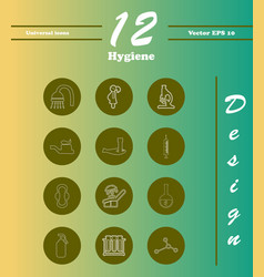 Set line icons of hygiene theme vector