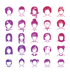 simple avatar icons vector image