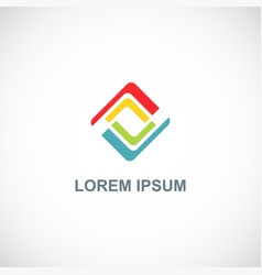 square circle colored logo vector image