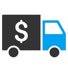 Tax Collector Car Flat Icon vector