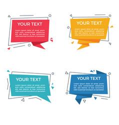 text label speech bubble set vector image
