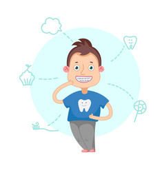 The boy with braces vector image