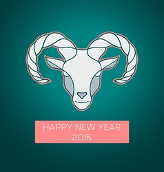 The goat is a symbol of 2015 vector image
