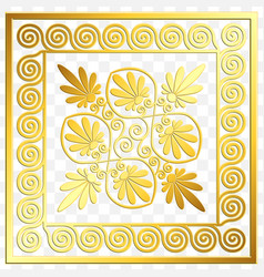 Traditional vintage gold greek ornament meander vector