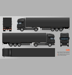 Truck with trailer mockup vector