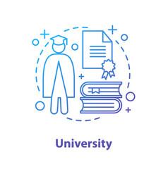 University concept icon vector