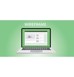 website wireframe development vector image