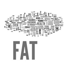 What s the truth about fat text word cloud concept vector