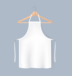 White aprons mockup isolated grey background vector