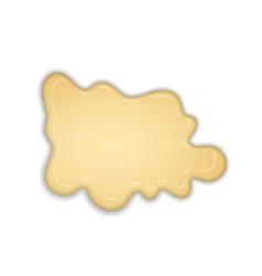 white creamy melt chocolate isolated vector image