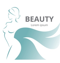 Abstract logo stylized beautiful woman in profile vector image vector image