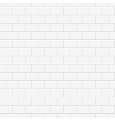 Brick wall texture - seamless background vector image vector image