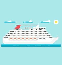 Flat design luxury cruise vector image