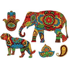Indian patterns for design vector image vector image