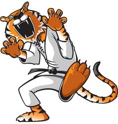 kung fu tiger vector image vector image