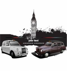london taxicab vector image vector image